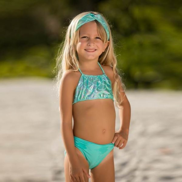 5433J Girls Jewel Mermaid Set Aqua Bikini Only