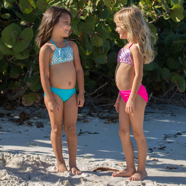 5432D Diamond Girls Mermaid Set bikini only both colors