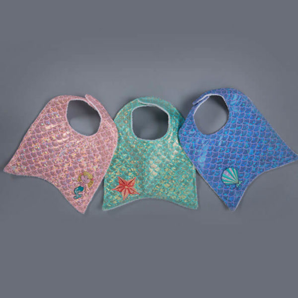 8120A Mermaid Baby Bib All 3 Colors