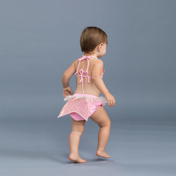 5304 Halter Top Baby Swim Diaper Set Pink Mermaid Tail