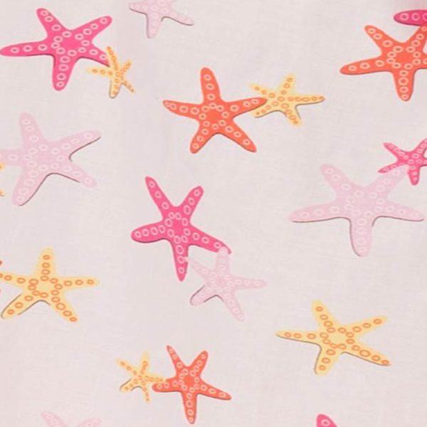 5428SF Girls Starfish Pillowcase Dress Close Up Material