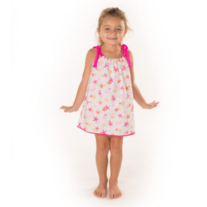 5428SF Girls Star Fish Print Pillowcase Dress