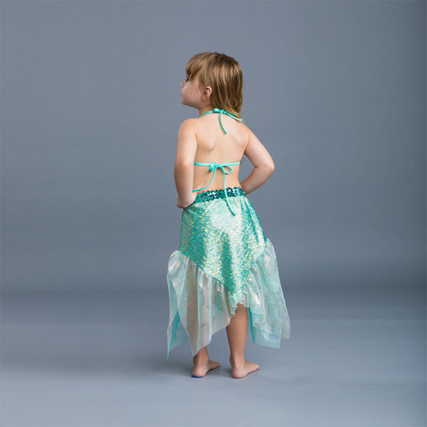 5434 Mermaid Set With Reversible Bikini Aqua