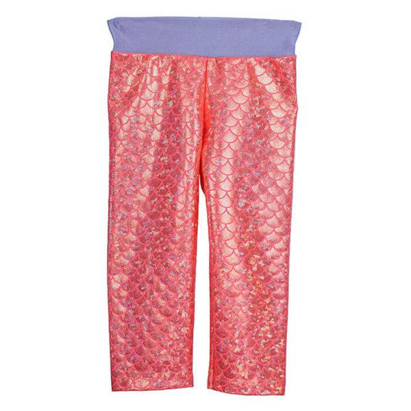 5460 Mermaid Two Tone Lavender Leggings with Coral