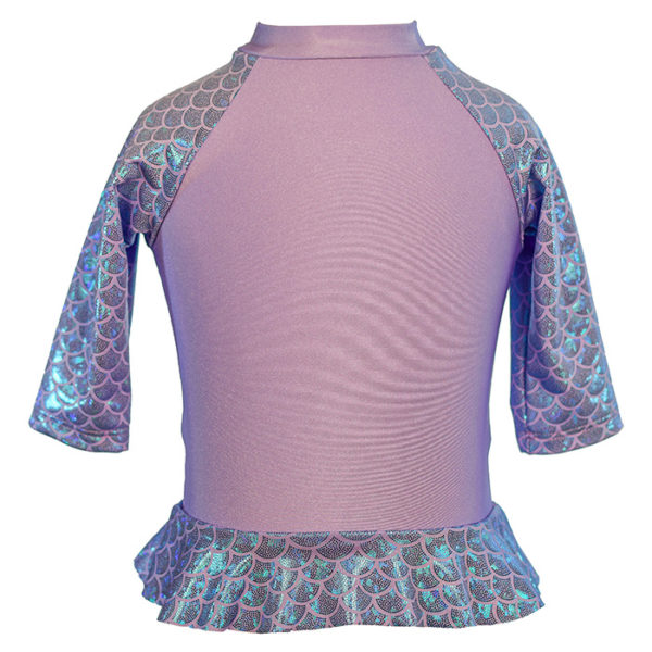 Baby Mermaid Scale Rash Guard UPF 50