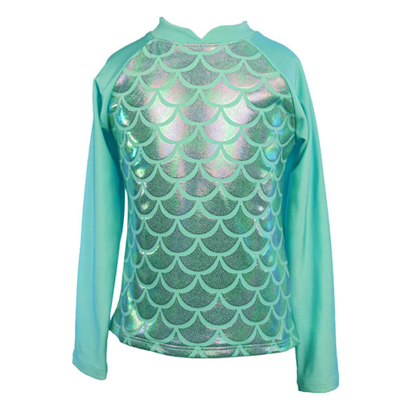 Girls Jewel Mermaid Rash Guard