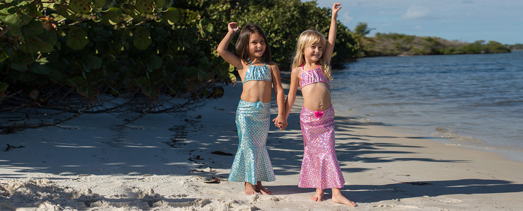 Shebop Beach Mermaid Swimsuits and Accessories Intro Slideshow Slide 1